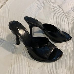 Aldo leather slide heels